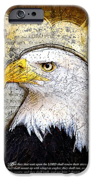 Nature Divine iPhone Cases - With Wings As Eagles iPhone Case by Gary Bodnar