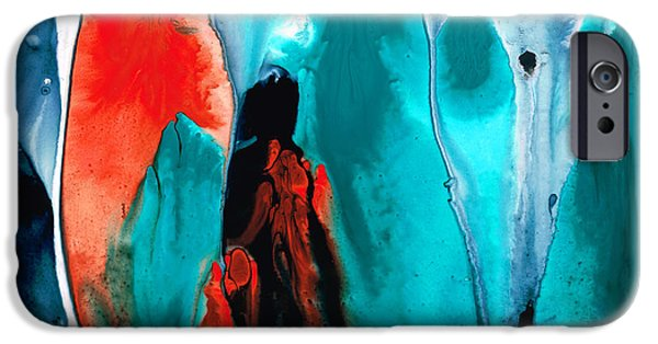 Jesus iPhone Cases - With You Always - Spiritual Painting Art iPhone Case by Sharon Cummings
