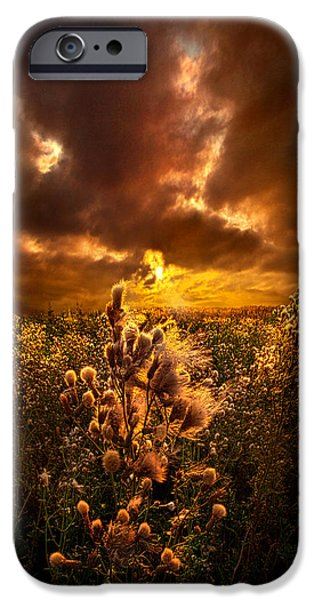 Field. Cloud iPhone Cases - Within Peace and Solitude iPhone Case by Phil Koch