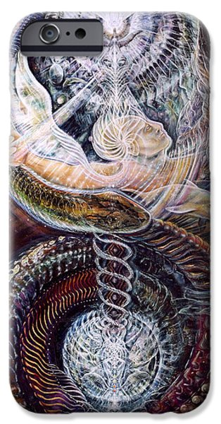 Galactic Paintings iPhone Cases - Withinfinite Passage iPhone Case by Jerod  Kytah