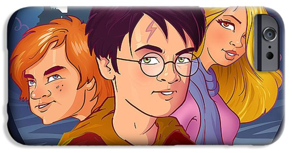 Hermione Granger iPhone Cases - Wizards iPhone Case by Aniruddha Lele
