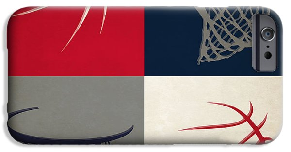 Dunk iPhone Cases - Wizards Ball And Hoop iPhone Case by Joe Hamilton
