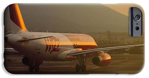 Industry iPhone Cases - Wizzair at sunset iPhone Case by Salva Reyes