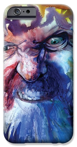 Creatures Paintings iPhone Cases - Wizzlewump iPhone Case by Frank Robert Dixon