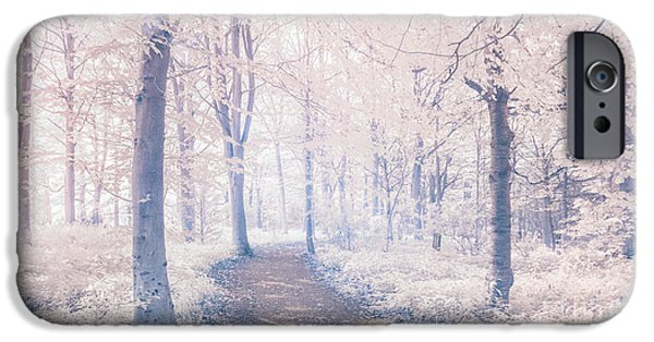 Infrared iPhone Cases - Wodland walk iPhone Case by Janet Burdon