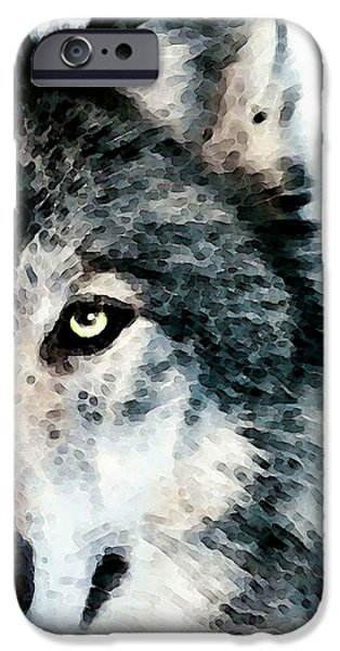 Buy iPhone Cases - Wolf Art - Timber iPhone Case by Sharon Cummings