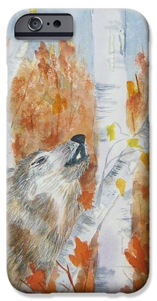 Wolf Call iPhone Case by Ellen Levinson