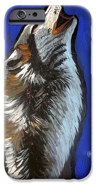 Genevieve Esson iPhone Cases - Wolf Howl iPhone Case by Genevieve Esson