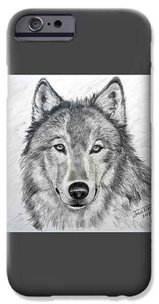 Wolf iPhone Case by Julie Brugh Riffey
