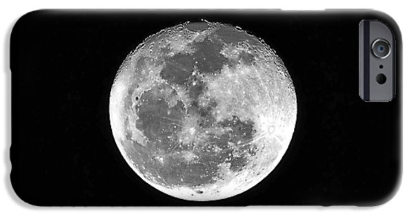 Wolf Photo iPhone Cases - Wolf Moon Waning iPhone Case by Al Powell Photography USA