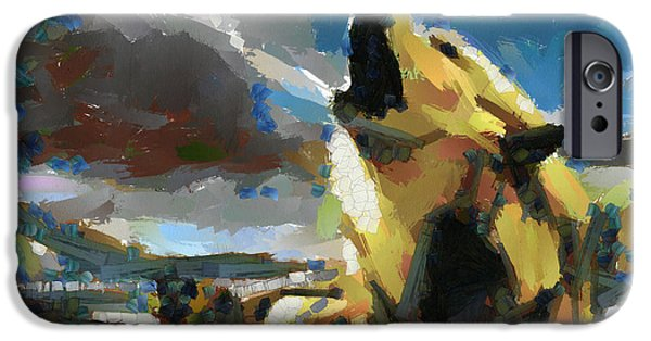Recently Sold -  - Abstract Digital Art iPhone Cases - Wolf pack iPhone Case by Georgi Dimitrov