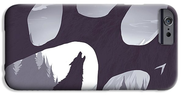 Lost iPhone Cases - Wolf paw iPhone Case by Daniel Hapi
