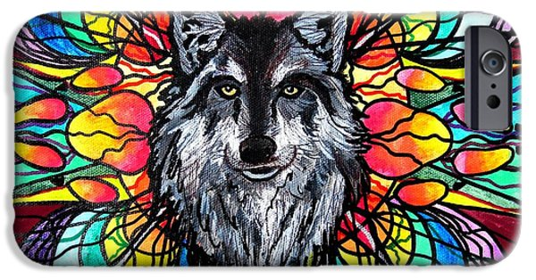 Wolf Image iPhone Cases - Wolf iPhone Case by Teal Eye  Print Store