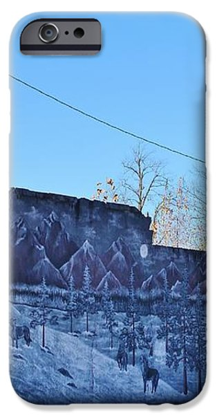 wolf wall Quapaw Ok iPhone Case by Larry Lamb