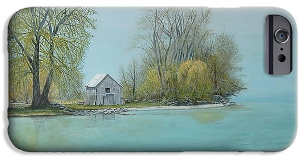 Catherine Howard iPhone Cases - Wolfe Island Misty Morning  iPhone Case by Catherine Howard