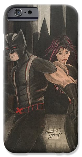 Xmen iPhone Cases - Wolverine and X23 iPhone Case by Dominic Orow