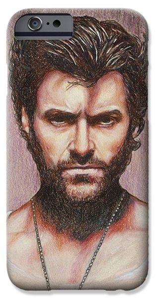 Xmen iPhone Cases - Wolverine iPhone Case by Christine Jepsen