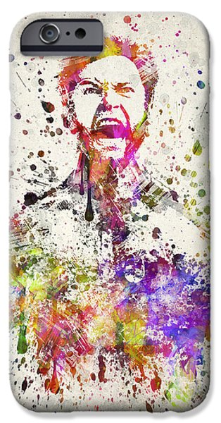 X-men iPhone Cases - Wolverine In color iPhone Case by Aged Pixel