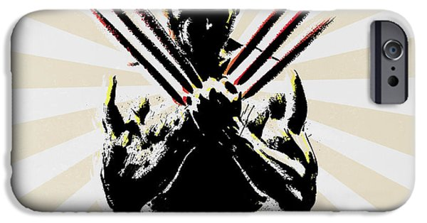 Culture iPhone Cases - Wolverine iPhone Case by Mark Ashkenazi