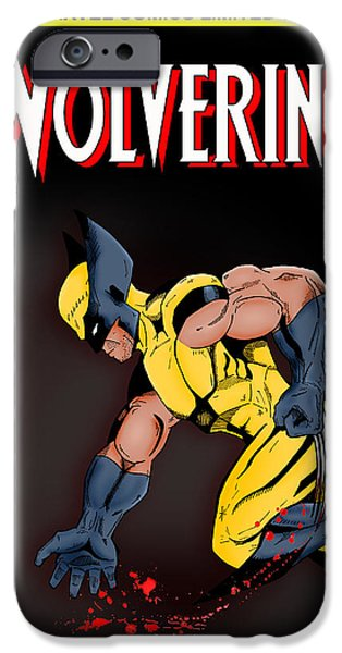 X Men iPhone Cases - Wolverine iPhone Case by Mark Rogan
