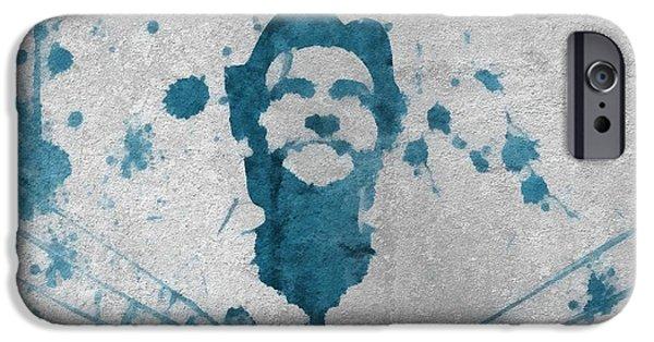 Xmen iPhone Cases - Wolverine Paint Splatter On Concrete iPhone Case by Dan Sproul