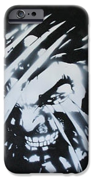 Xmen iPhone Cases - Wolverine3 iPhone Case by Barry Boom