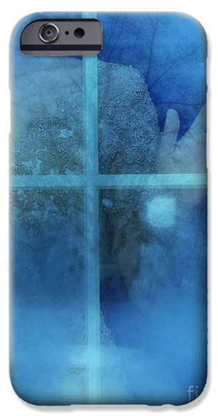 Ball Gown Photographs iPhone Cases - Woman at a Window iPhone Case by Jill Battaglia
