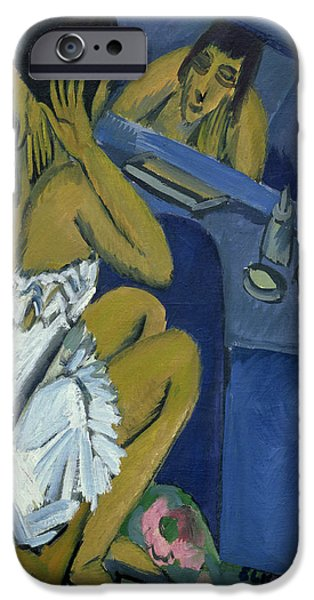 Abstract Expressionist iPhone Cases - Woman before the Mirror iPhone Case by Ernst Ludwig Kirchner