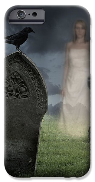 Woman Haunting Cemetery iPhone Case by Amanda And Christopher Elwell