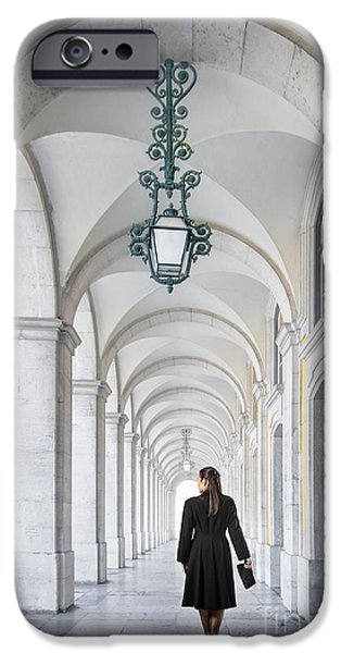 Politician iPhone Cases - Woman in Archway  iPhone Case by Carlos Caetano