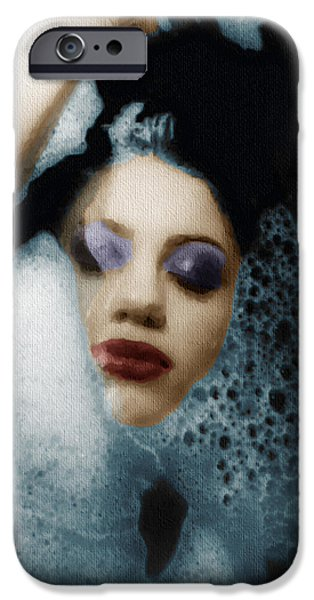Bathing Mixed Media iPhone Cases - Woman In Bath Vertical iPhone Case by Tony Rubino
