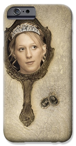 Woman In Mirror iPhone Case by Amanda And Christopher Elwell