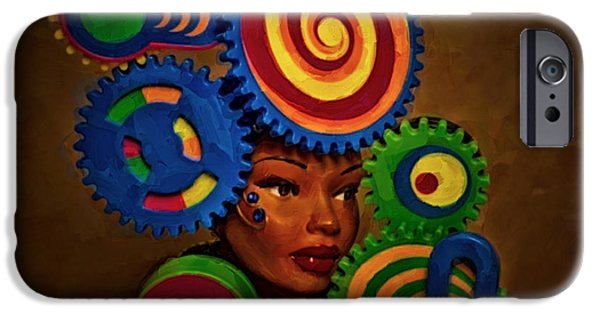 Concept Digital iPhone Cases - Woman Of Colors  iPhone Case by Jeff  Gettis