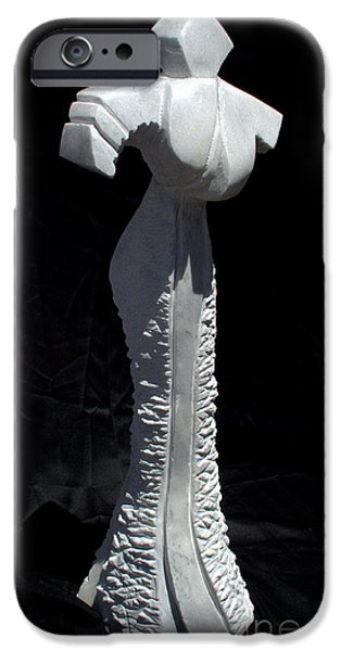 People Sculptures iPhone Cases - Woman iPhone Case by Tulay Cakir