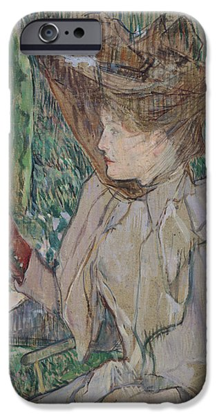 Veiled iPhone Cases - Woman with Gloves iPhone Case by Henri de Toulouse-Lautrec