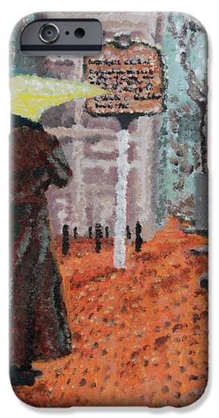 Woman with Umbrella iPhone Case by Robert Yaeger