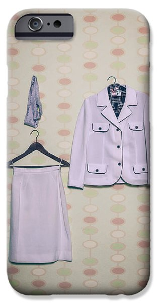 Coat Hanger iPhone Cases - Womans Clothes iPhone Case by Joana Kruse