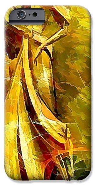 Abstract Digital Paintings iPhone Cases - Women 643-12-13 marucii iPhone Case by Marek Lutek