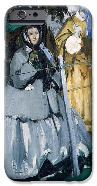 Horse Racing Photographs iPhone Cases - Women At The Races, 1865 Oil On Canvas iPhone Case by Edouard Manet