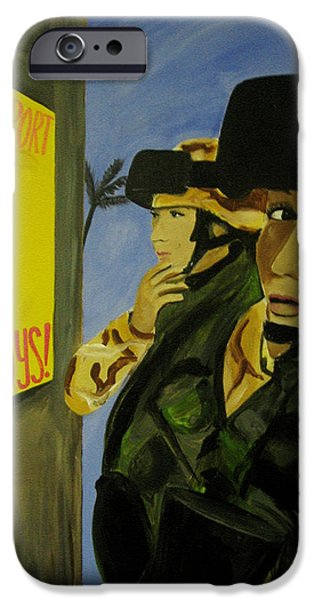 Iraq Paintings iPhone Cases - Women Warriors and the Pinup iPhone Case by Michelle Dallocchio