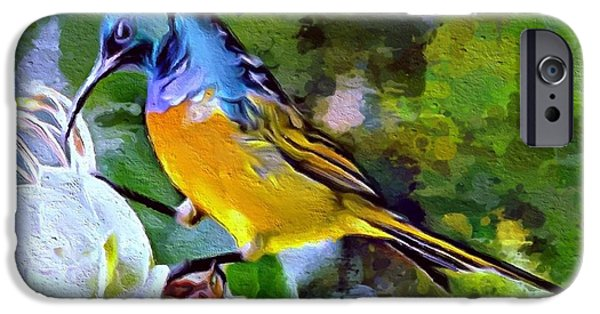 Digital Designs iPhone Cases - Wonderful bird portrait iPhone Case by Scott Wallace