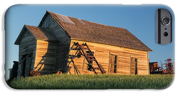 Agriculture iPhone Cases - Wonky House in Waves of Grain iPhone Case by Bridget Calip