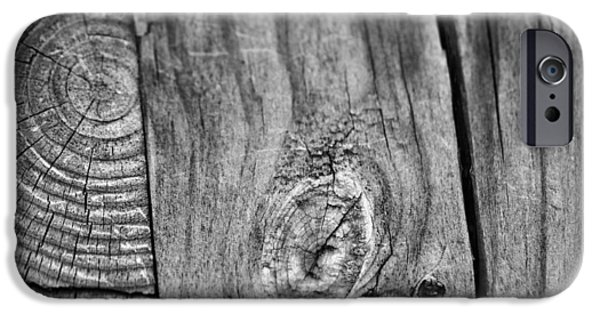 Rebuilt iPhone Cases - Wood Black And White iPhone Case by Dan Sproul