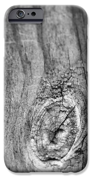 Wood Black And White iPhone Case by Dan Sproul