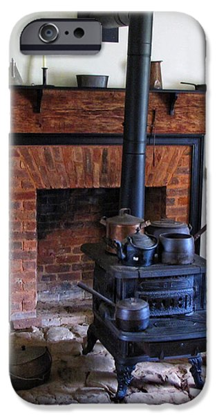Wood Burning Stove iPhone Case by Dave Mills