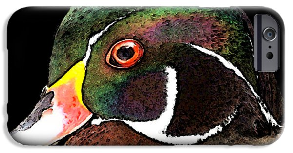 Duck iPhone Cases - Wood Duck Art - Royalty iPhone Case by Sharon Cummings