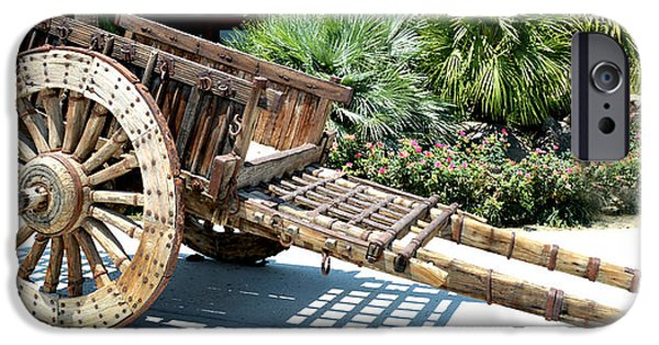 Wooden Wagons iPhone Cases - Wood Hand Cart II iPhone Case by Barbara Snyder