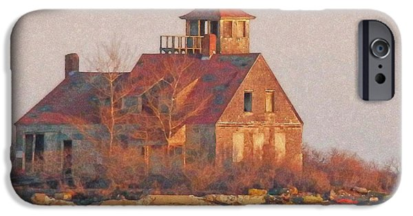 Built Structure iPhone Cases - Wood Island iPhone Case by Marcia Lee Jones