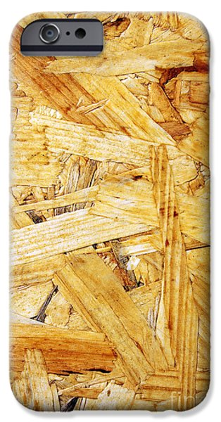 Chip iPhone Cases - Wood Splinters Background iPhone Case by Carlos Caetano