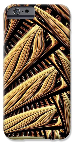 Texture iPhone Cases - Wood Weaving iPhone Case by Anastasiya Malakhova